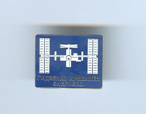 Expedition 1 ISS International Space Station Mission Lapel Pin Official NASA
